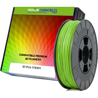 Premium Compatible PLA 1.75mm Apple Green 1kg 3D Filament (97-PLA-175GR1)