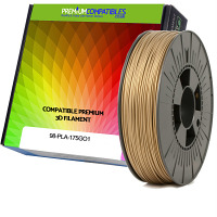 Premium Compatible PLA 1.75mm Bronze Gold 0.5kg 3D Filament (98-PLA-175GO1)
