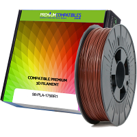 Premium Compatible PLA 1.75mm Brown 0.5kg 3D Filament (98-PLA-175BR1)