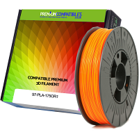 Premium Compatible PLA 1.75mm Orange 1kg 3D Filament (97-PLA-175OR1)