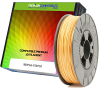 Premium Compatible PLA 1.75mm Yellow Gold 0.5kg 3D Filament (98-PLA-175YG1)