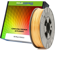 Premium Compatible PLA 1.75mm Yellow Gold 1kg 3D Filament (97-PLA-175YG1)