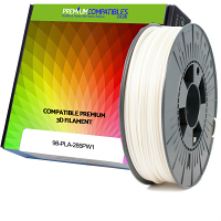 Premium Compatible PLA 2.85mm Pearl White 0.5kg 3D Filament (98-PLA-285PW1)