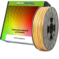 Premium Compatible PLA 2.85mm Yellow Gold 1kg 3D Filament (97-PLA-285YG1)