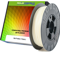 Premium Compatible PVA-M 1.75mm Natural Water Soluble 0.3kg 3D Filament (98-PVAM-175NA1)