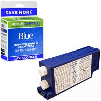 Premium Remanufactured Pitney Bowes 620-1SB / 620-1BN Blue Franking Ink Cartridge (10021-801)