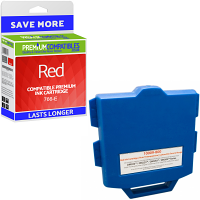Premium Compatible Pitney Bowes 766-E Red Franking Ink Cartridge (10009-800)