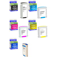 Premium Remanufactured Pitney Bowes Connect+ 78 C, M, Y, K, Blue Multipack Franking Ink Cartridges (10423-801 / 6-803/7-803/8-803/9-803)