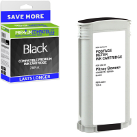 Premium Remanufactured Pitney Bowes Connect+ 78P-K Black High Capacity Franking Ink Cartridge (10426-803)