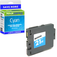 Premium Compatible Ricoh GC21CH Cyan High Capacity Gel Ink Cartridge (405537)