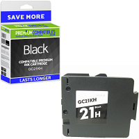 Premium Compatible Ricoh GC21KH Black High Capacity Gel Ink Cartridge (405536)