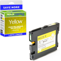 Premium Compatible Ricoh GC21YH Yellow High Capacity Gel Ink Cartridge (405547)