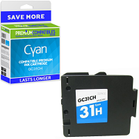 Premium Compatible Ricoh GC31CH Cyan High Capacity Gel Ink Cartridge (405706)