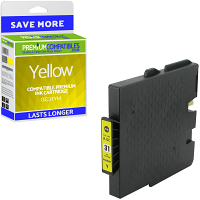Premium Compatible Ricoh GC31YH Yellow High Capacity Gel Ink Cartridge (405708)