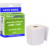 Premium Compatible Zebra 101.5mm x 152mm White Large Shipping Label Roll - 500 Labels (ZA4X6-500)