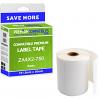 Premium Compatible Zebra 101.5mm x 50mm White Standard Shipping Label Roll - 750 Labels (ZA4X2-750)