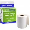 Premium Compatible Zebra 101.5mm x 76.2mm White Shipping Label Roll - 500 Labels (ZA4X3-500)