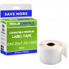 Premium Compatible Zebra 57mm x 32mm White Medium Multi-Purpose Label Roll - 1,000 Labels (ZA2.25x1.25-1000)