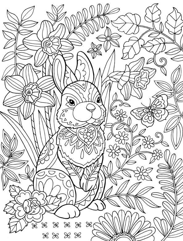 easter colouring in design