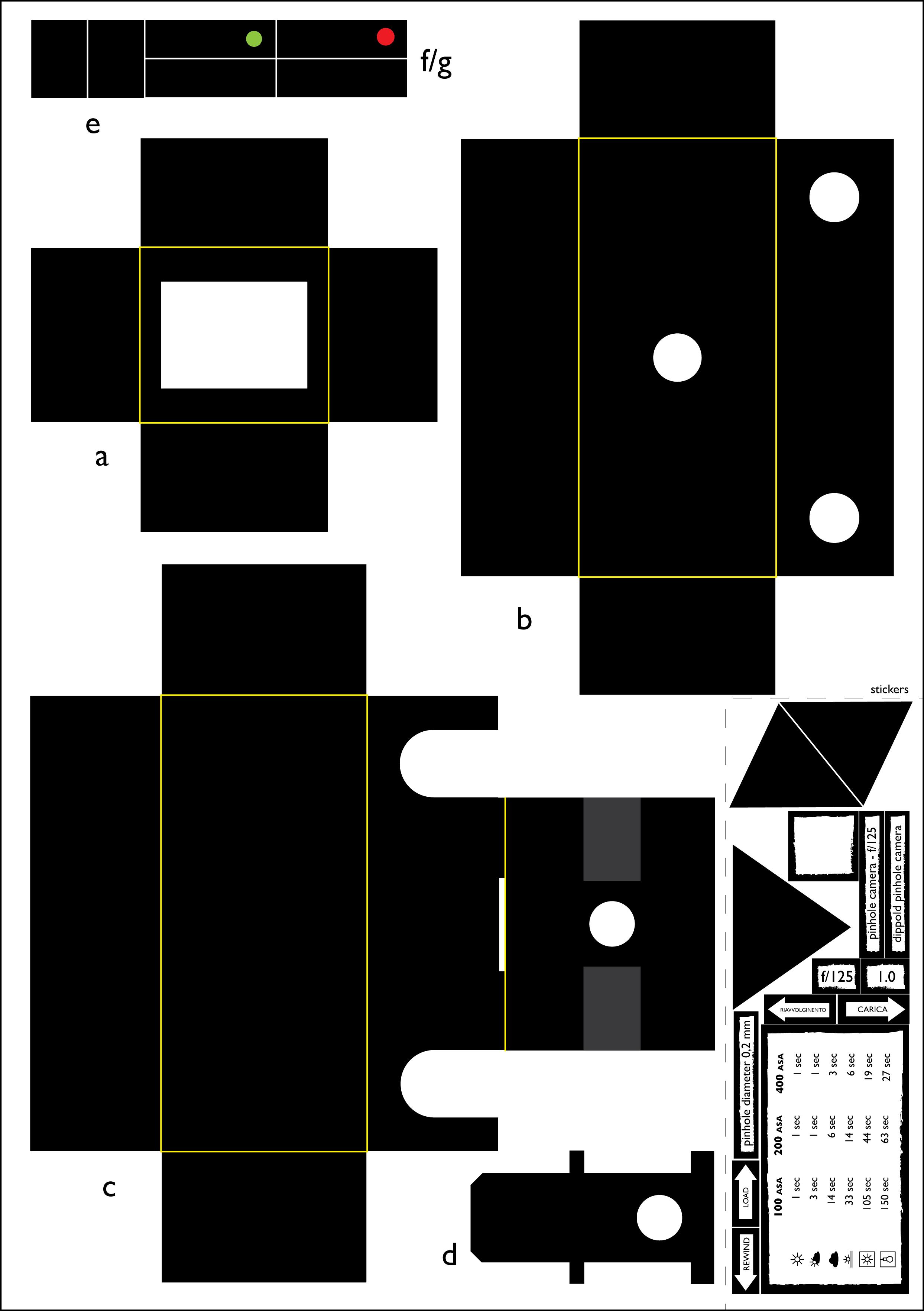 pinhole camera template